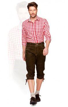 German leather trousers knee length Sigmar2 hazel antique