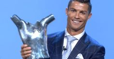 The Real Madrid and Portugal superstar was presented the award in Monaco while…