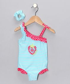 Strawberry swimsuit -- SO CUTE!  Only $8.99 but it doesn't come in Susie's size. :(