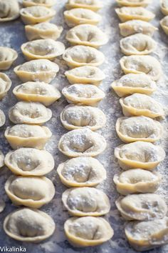 These delicate meat dumplings Pelmeni served with sour cream will become the highlight of your week! I've had them served in a beef broth ~ wonderful! Lithuanian Recipes, Ukrainian Recipes, Russian Recipes, Ukrainian Food, Russian Foods, Lithuanian Food, Goose Recipes, Meat Recipes, Cooking Recipes