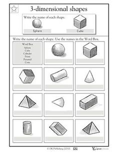 Worksheets 3 Dimensional Shapes Worksheets our 5 favorite prek math worksheets sheets third grade and shapes worksheets
