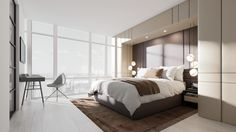 9th Crosby is a luxury Hotel based on New York.Penthouse room has been refurbished by a more contemporary and luxury look.We were responsible for creating the visuals for these areas.