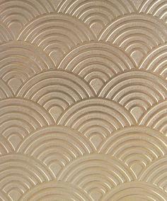 "Patterned Brass Sheet ""Rainbows"" x (choose 18 thru Wall Texture Patterns, Wall Texture Design, Tv Wall Design, Wall Patterns, Art Deco Design, Textures Patterns, Metallic Paint Walls, Kitchen Tile Diy, Art Deco Fabric"