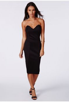 This smokin' hot MG Exclusive dress will definitely make you the one to watch this season. Not only will the super soft fabric make you feel sensational, but the enticing sweetheart neckline will cause men to fall at your feet, stealing all...