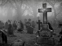 Grave yards don't have to be scary and bad it just depends on your mind