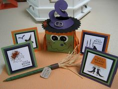 Thoughts That Stick..... : Witch Notecard box and broom pen