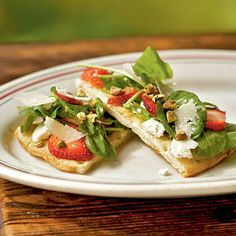Strawberry, Pistachio, and Goat Cheese Pizza | CookingLight.com