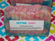 Cotton Candy Homemade Soap EVO Coconut Oil by EnchantingArtistry, $5.50