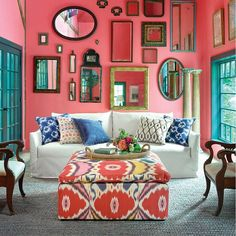 Mexican Home Decor, Mexican Bedroom Decor, Funky Home Decor, Colorful Decor, Mexican Hacienda Decor, Colourful Home, Colorful Interiors, Spanish Home Decor, Colorful Rooms