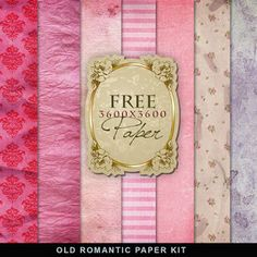 New Freebies Old Romantic Paper