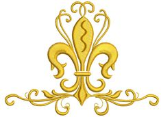 Fleur de lis and pattern Embroidery Designs by embroiderypapatedy