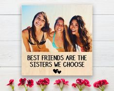 Best Friend Photo Frame, Best Friend Gift, Photo On Wood, Picture On Wood, Personalized Wood Pallet Sign, Long Distance Best Friend Gift Photo On Wood, Picture On Wood, Wood Pallet Signs, Wood Pallets, Bridesmaid Proposal, Be My Bridesmaid, Gifts For Friends, Best Friends, Long Distance Best Friend