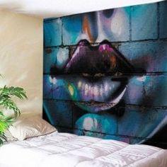 Sexy Lip Graffiti Wall Print Tapestry Wall Hanging Art Decoration