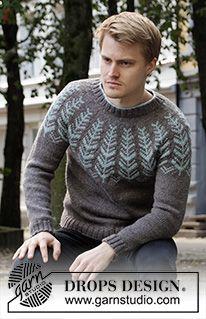 Inner Circle pattern by DROPS design Mens Knit Sweater Pattern, Sweater Knitting Patterns, Free Knitting, Crochet Patterns, Men Sweater, Drops Design, Drops Karisma, Neck Drawing, Magazine Drops