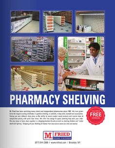 M. Fried has been servicing many chain and independent pharmacies since 1991. We have grown to be the largest stocking distributor of gondola shelving, rx cabinets, rx bay units, slatwall and accessories. Having our own millwork shop gives us the ability to create custom wood products and counter tops at competitive pricing with quick lead times. - (As seen in the 2013 Pharmacy Platinum Pages Buyer's Guide: rxplatinumpages.com)