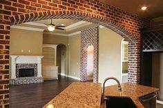 The Acadian Dream Home Gallery Brick Arch, Brick Wall, Acadian Homes, My Dream Home, Dream Homes, Morris Homes, Home Estimate, Exposed Brick, Home Reno