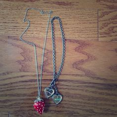 Two cute necklaces will sell together or separate. Very cute necklaces never worn. Jewelry Necklaces