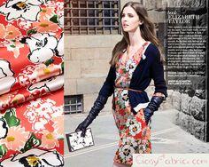 floral silk fabric - Prunus mume,Designer silk stretch satin,Fashion silk dress fabric,silk fabric by the yard,1m-TLD37719006045