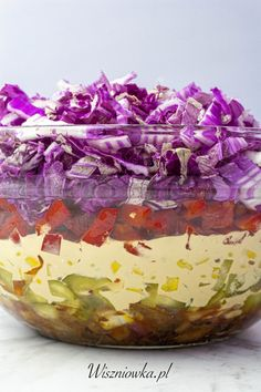 Polish Recipes, Watermelon, Decorative Bowls, Cabbage, Grilling, Lunch Box, Food And Drink, Healthy Eating, Cooking Recipes