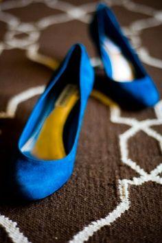 blue shoes!