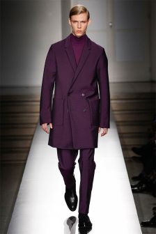 Jil Sander's collection was created by a team of people, as they lacked a creative director. However, they came up with these amazing jewel tones and soft double-breasted coats.  More on Milan Fashion Week FW 2014 Menswear collections: http://attireclub.org/2014/01/29/milan-fashion-week/