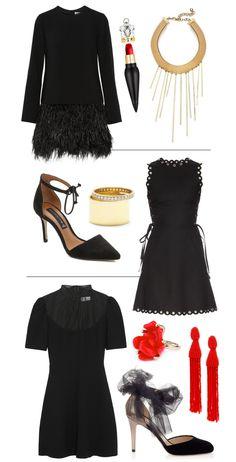 Little Black (Holiday) Dresses via Mrs. Lilien