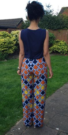 African print wide legged trousers  by MakaymaChic on Etsy