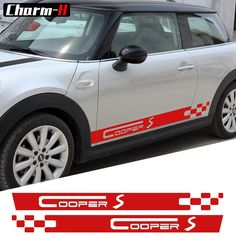 Car Styling Side Skirt Decals Stickers for MINI COOPER S Racing Stripes Clubman R55 F54 R56 F56 R50 R53 F55 F60 R60 Accessories Review Car Stickers, Bumper Stickers For Cars, Car Decals