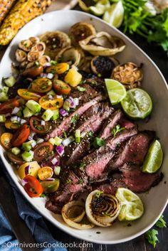 Pineapple Marinated Flank Steak - This recipe shares the  Mein Blog: Alles rund um die Themen Genuss & Geschmack  Kochen Backen Braten Vorspeisen Hauptgerichte und Desserts # Hashtag