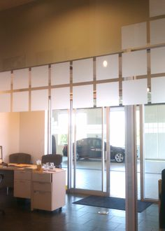 A close-up of our hand-cut film installation. We pay close attention to detail and ensure that our work always looks perfect. We want to offer businesses a high-end look at a fraction of the price. #window #film #tinting