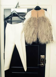 I got these pants by Céline in three colors. It's my thing: when something is great, I need to have it in every color. Even if I never wear it, I have to know I have it. This jacket is from Ghesquiere's 2010 collection and is to die for. I died last year when I found it in a Milan store. It was some sales event where they were selling his best pieces—I lucked out!