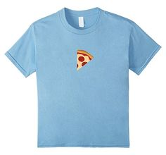 unisex-child Matching Parent and Kid T-Shirt - Pizza Slice and Pizza Tee 8 Baby Blue