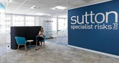 Interaction Case Study | Sutton Specialist Risks, insurance brokers in Bristol wanted a bright, modern and quirky office to attract the best talent. They wanted to tackle staff wellbeing to enhance their culture.