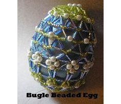 Bugle Beaded Egg Beading Pattern at Sova-Enterprises.com