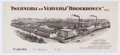 "Briefhoofd van Twernerij en Ververij ""Broekhoven"" , Broekhovenseweg 130. Jaar 1956. Foto 059766 Regionaal Archief Tilburg."