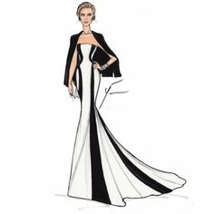 Dior dream: Charlize Theron wore a floor-length Dior gown to the Met Ball last week, sketched here by artist and fashion designer Yigit Ozcakmak