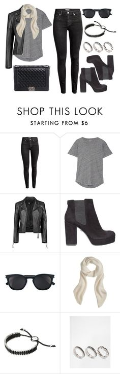 """""""Style #11563"""" by vany-alvarado ❤ liked on Polyvore featuring H&M, Madewell, Boohoo, KG Kurt Geiger, Yves Saint Laurent, J.Crew, Links of London, ASOS and Chanel"""