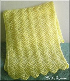 "Measuring a generous 40"" L x 31"" W this baby afghan is perfect for cuddling the…"