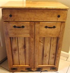 3 Bin Trash Recycle Cabinet, Double Kitchen Trash Can   R Witherspoon