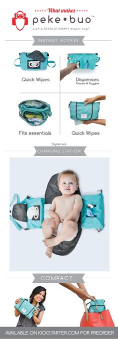 Peke•Buo- The Smart, Little Diaper Bag by Sariah Tate — on Kickstarter