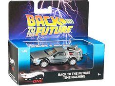 "Delorean Back To The Future ""Time Machine"" Elite 1/50 Diecast Model Car by Hotwheels"