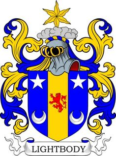 Lightbody Family Crest and Coat of Arms