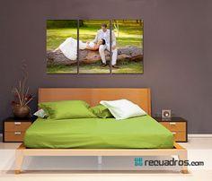 divide una foto en panel para armar tu foto split y decora tu nidito de amor con una foto de el día de tu boda!  imprime tu foto en canvas  www.recuadros.com