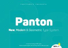 Panton - New, Modern & Geometric Type System by FontFabric