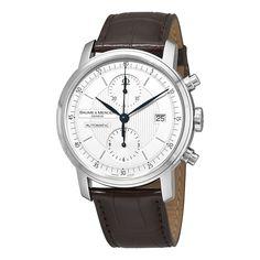 Baume & Mercier Men's MOA8692 Classima Automatic Chronograph Brown Leather Watch