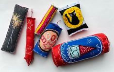 Try this fun 4th of July sewing project! Fireworks Craft, Felt Diy, Stuffed Animal Patterns, Craft Tutorials, Cool Things To Make, Fun Crafts, Two By Two, Sewing Projects, Mom