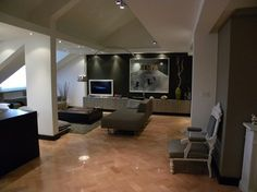 darker wall? lessen impact of tv   Living Room Hiding Television Design, Pictures, Remodel, Decor and Ideas - page 62