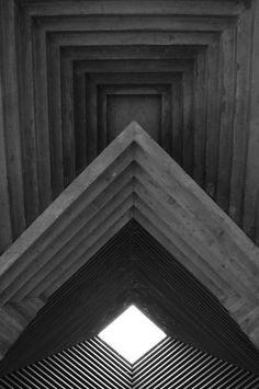 Dream home details - 'Chapel Skylight' Carlo Scarpa - Brione Cemetery Carlo Scarpa, Art Et Architecture, Architecture Details, Architecture Geometric, Fashion Architecture, Minecraft Architecture, Beautiful Architecture, Sendai, Brutalist