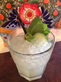 The Spiced Cucumber Collins at Public Kitchen and Bar @ The Hollywood Roosevelt Hotel. Mm...