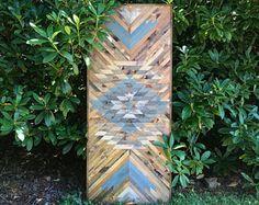 Rustic Tribal Aztec Wood Wall Art
